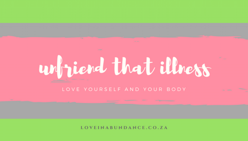 unfriend that illness