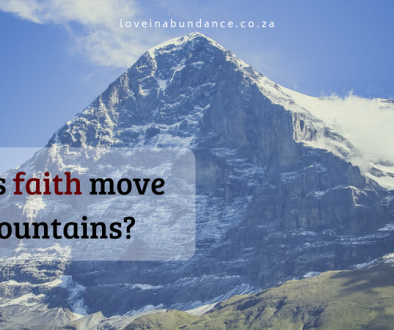does faith move mountains