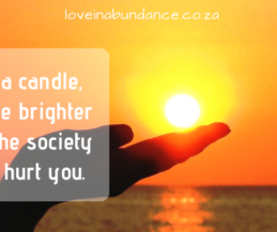 be a candle...