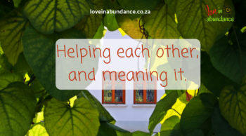 helping each other and meaning it