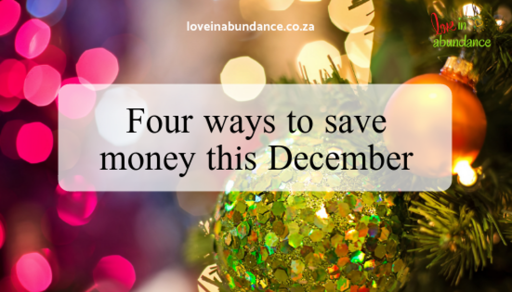 Four ways to save money this December