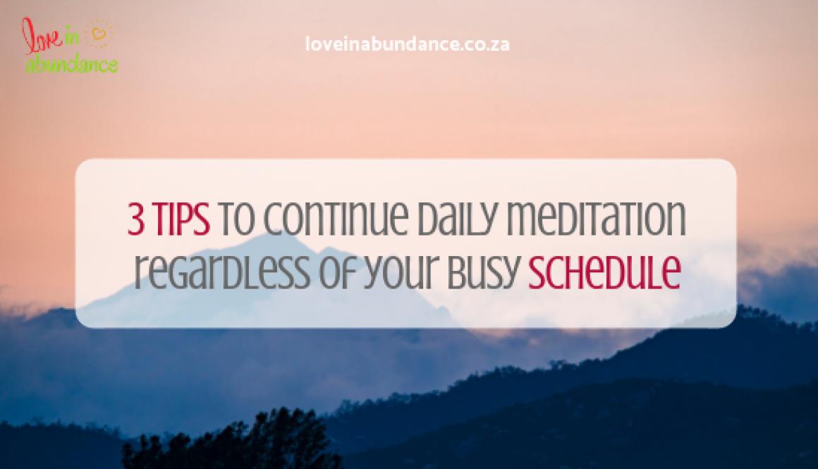 3 tips on meditation